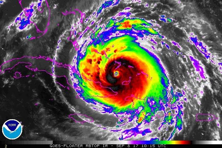 Satelitní snímek hurikánu. Autor: NOAA, zdroj: Wikimedia Commons