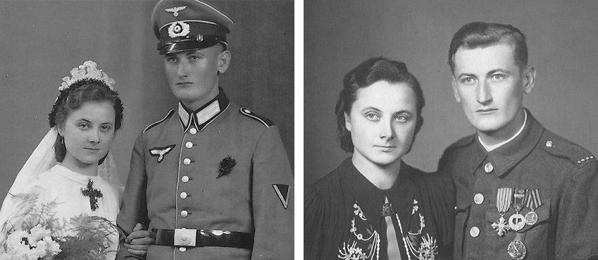 Strýc paní Dostálové jako voják Wehrmachtu Franz Schwab... a jako protifašistický bojovník armády generála Ludvíka Svobody František Šváb Foto: archiv paní Dostálové
