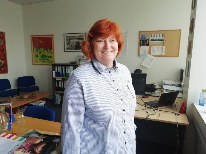 Lucie Sládková, ředitelka české pobočky Mezinárodní organizace pro migraci. Foto: Eliška Černá/Deník N