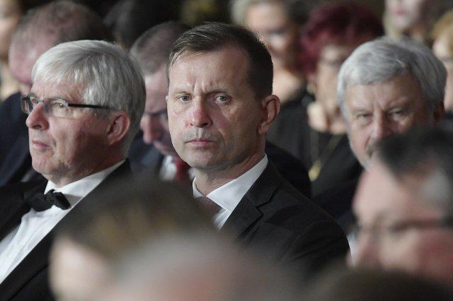 Jaromír Soukup při udílení státních vyznamenání na Pražském hradě. Zdroj: ČTK