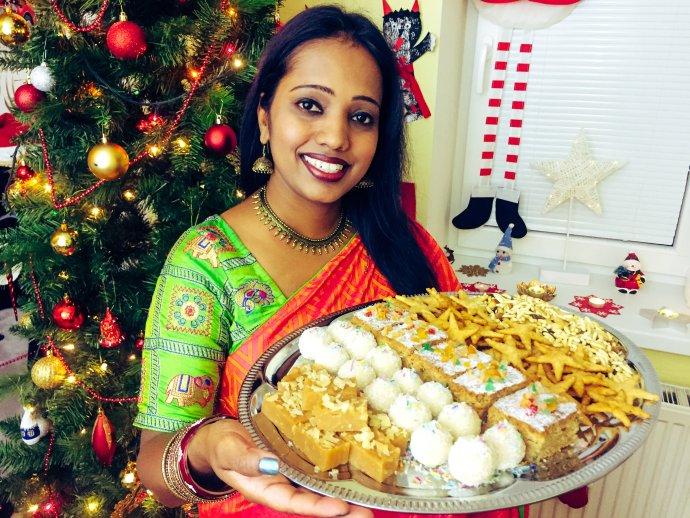 Deepa Bartáková a její vánoční cukroví. Foto: rodinný archiv Deepy Bartákové