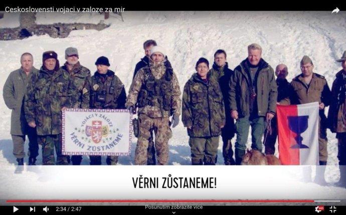 Zástupci jedné z domobran Českoslovenští vojáci v záloze za mír. Foto: YouTube