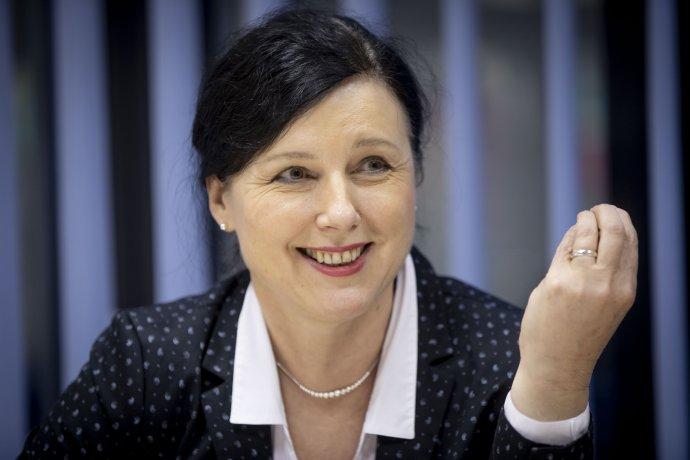 Česká eurokomisařka Věra Jourová. Foto: Gabriel Kuchta, Deník N