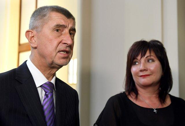 Premiér Andrej Babiš aministryně financí Alena Schillerová, oba zhnutí ANO. Foto:ČTK