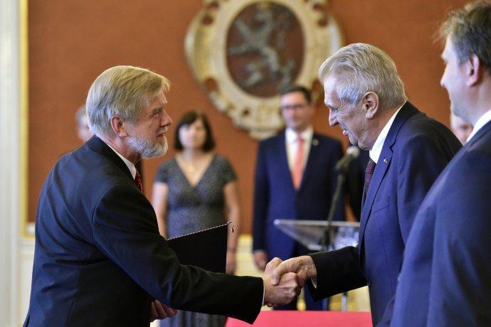 Prezident Miloš Zeman jmenuje Michala Mazance předsedou Nejvyššího správního soudu. Foto: ČTK