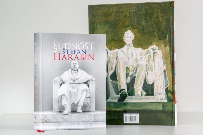 Slovenský soudce, expolitik akandidát na prezidenta Štefan Harabin aAbraham Lincoln. Foto:Tomáš Benedikovič, DenníkN