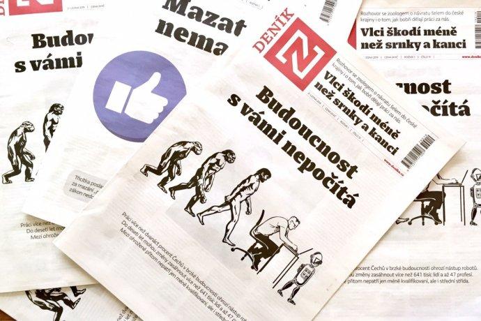 Tištěný DeníkN najdete každý týden od pondělí do pátku na pultech trafik. Foto:Gabriel Kuchta, Deník N