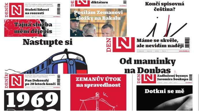 Notes – úvodní foto, koláž osmi titulních stran.