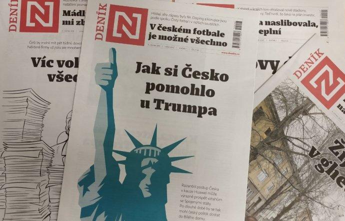 Tištěný DeníkN najdete každý týden od pondělí do pátku na pultech trafik. Foto:DeníkN
