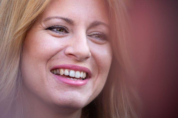 Zuzana Čaputová během sčítání výsledků. Foto: Tomáš Benedikovič, Denník N