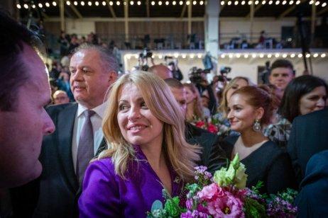 Radost Zuzany Čaputové. Foto: Tomáš Benedikovič, DenníkN