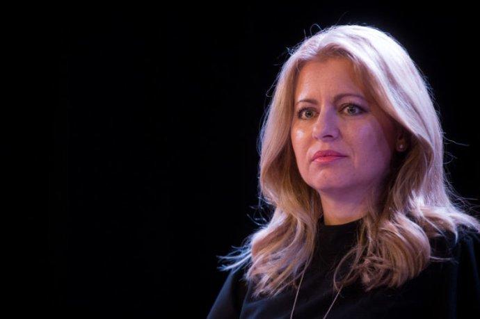 Vítězka prezidentských voleb Zuzana Čaputová. Foto: Vladimír Šimíček, Denník N