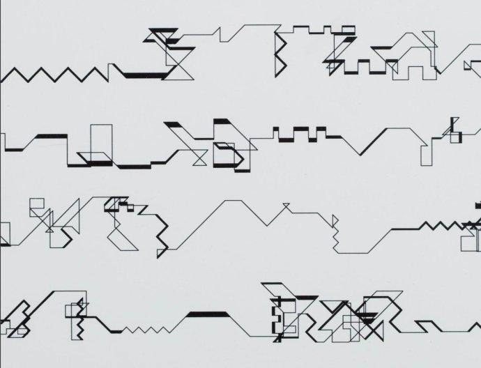 """Jedno z """"počítačových"""" děl Manfreda Mohra."""