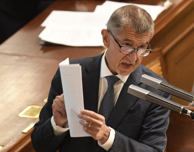 Premiér Andrej Babiš ve Sněmovně reaguje na zprávu auditorů. Foto: ČTK
