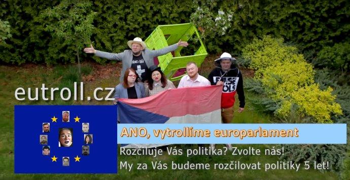 Recesistická strana ANO, vytrollíme europarlament. Foto: Repro z volebního spotu strany