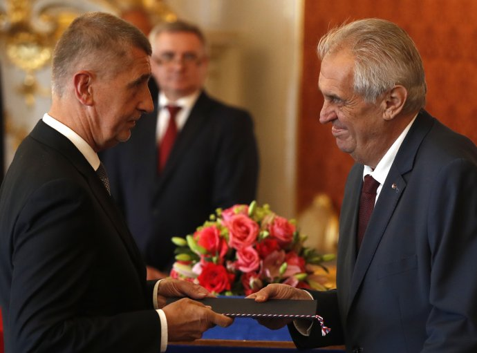 Prezident Miloš Zeman spremiérem Andrejem Babišem. Foto:ČTK