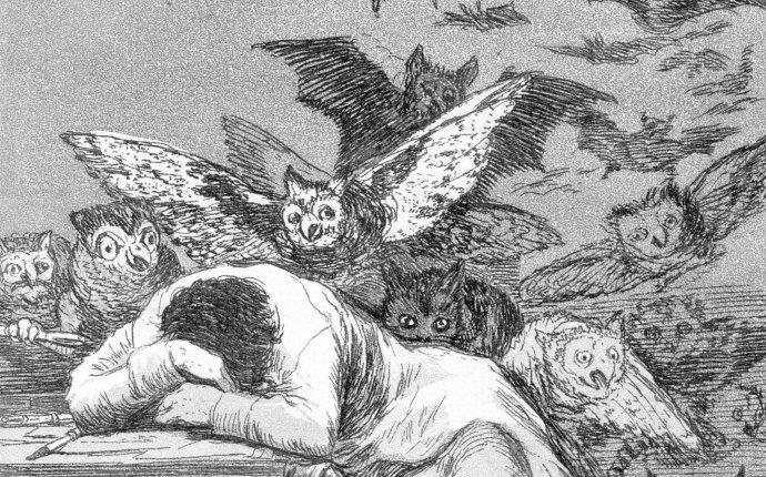 Spánek rozumu plodí nestvůry, jak věděl malíř Goya. Jeho přemíra ale také. Foto: Wikimedia