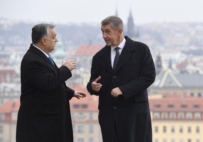 Setkání premiéra Andreje Babiše sjeho maďarským protějškem Viktorem Orbánem, Praha, 30.listopadu 2018. Foto:ČTK