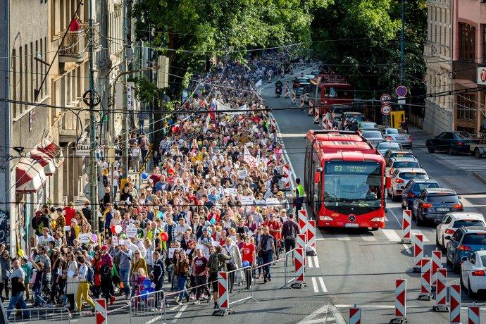Pochod pro život, Bratislava, 22. 9. 2019. Foto: Tomáš Benedikovič, Denník N