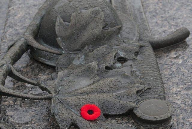 """Vlčí mák se stal symbolem veteránů díky básni kanadského lékaře Johna McCrae """"Na polích flanderských"""" z první světové války. Snímek pochází z Ottawy. Foto: ČTK/AP"""