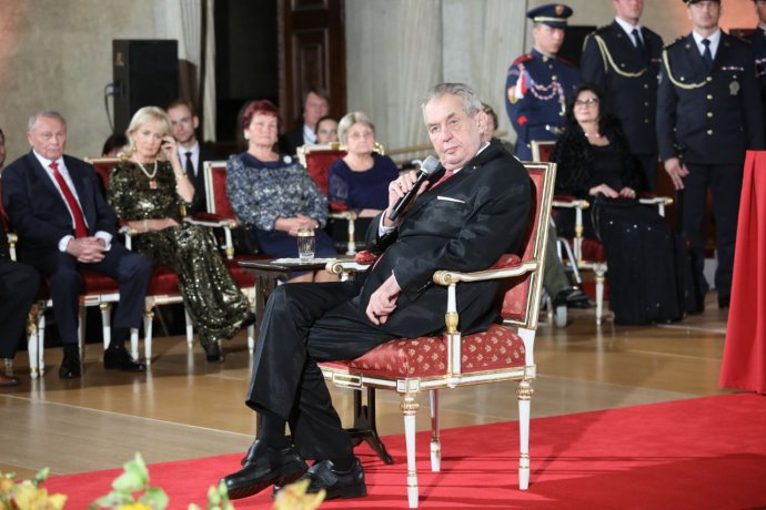 Prezident Miloš Zeman během udílení vyznamenání 28.října 2019. Foto: Ludvík Hradilek, DeníkN