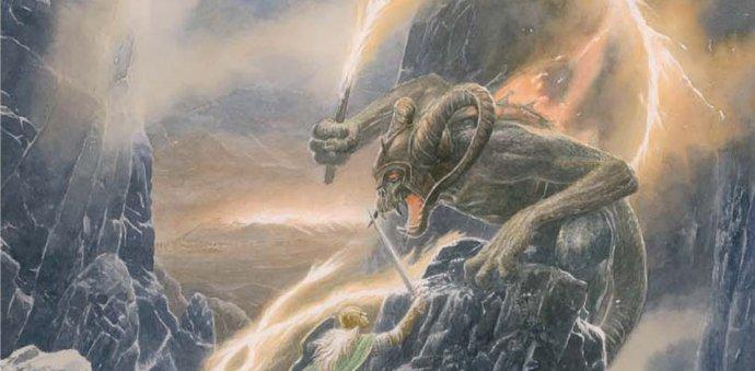 Detail ilustrace Alana Leeho z Pádu Gondolinu. Repro: Deník N