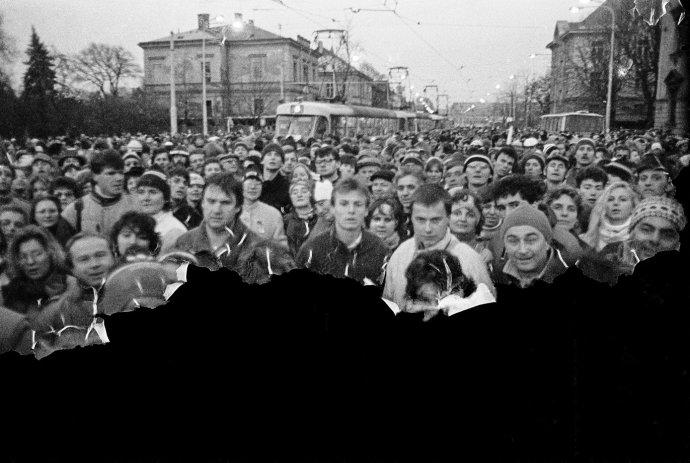 Sametová revoluce. Foto: archiv Jaroslava Krejčího