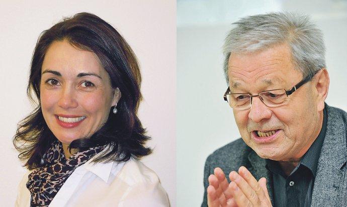 Monika Vondráková a Pavel Hobza, představitelé NF Neuron. Foto: NF Neuron a ČTK