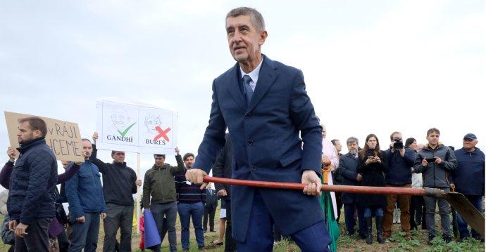 Premiér Andrej Babiš ve Vyskři v Libereckém kraji. Foto: Ludvík Hradilek, Deník N