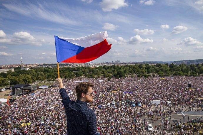 Mladí už takto dál nechtějí (protesty na Letné vlétě 2019). Ilustrační foto:Gabriel Kuchta, DeníkN