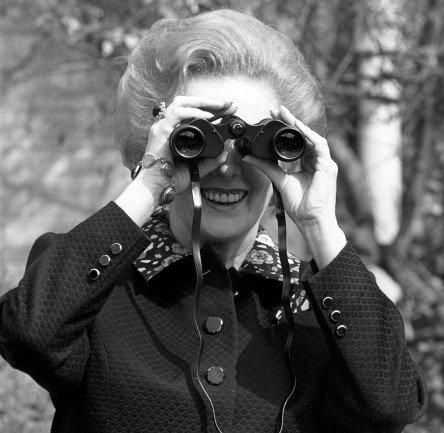 Britská premiérka Margaret Thatcherová již v roce 1989 viděla to, o čem se o třicet let později marně snaží mnohé přesvědčit Greta Thunbergová. Foto: ČTK/PA/Adam Butler