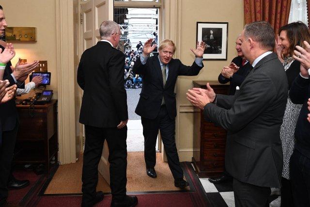 Vítěz voleb Boris Johnson. Foto: ČTK/ZUMA/Andrew Parsons