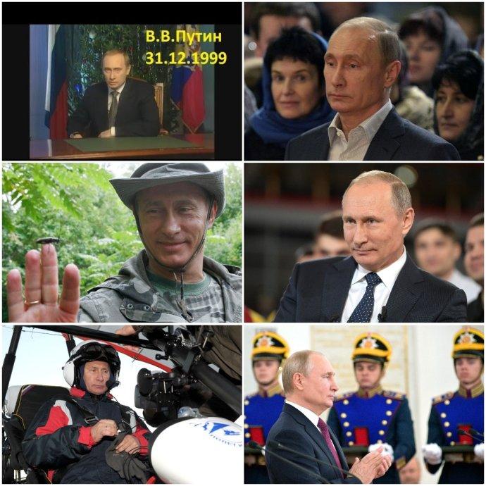 Svou prezidentskou kariéru začal Vladimir Putin novoročním projevem 31. prosince 1999. Zatímco jeho postoje vůči západní civilizaci se za posledních 20 let změnily zásadně, vzhled ruského vůdce utrpěl změny pouze kosmetické. Zdroj: Deník N a kremlin.ru
