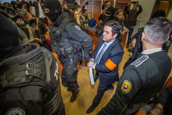 Marian Kočner, obžalovaný z objednávky vraždy novináře Kuciaka. Foto: Tomáš Benedikovič, Denník N