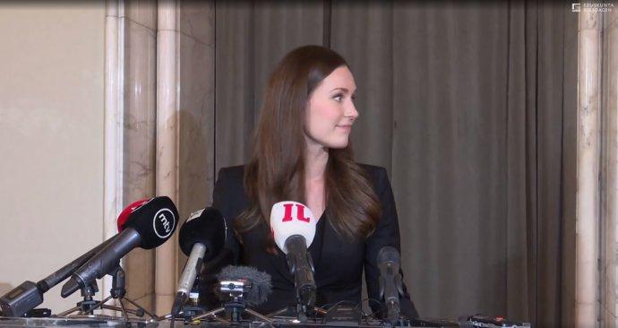 Nová finská premiérka Sanna Marinová. Foto: Finský parlament