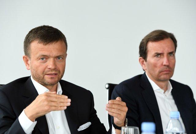 Jaroslav Haščák aMarek Dospiva (vpravo) jsou jak jin ajang. Foto:ČTK