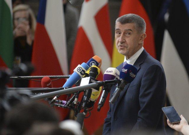 Premiér Andrej Babiš před jednáním summitu v Bruselu. Foto: ČTK