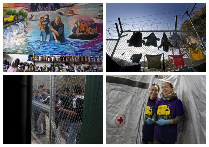 Uprchlický tábor na Lesbu. Foto: Andrej Bán, Denník N