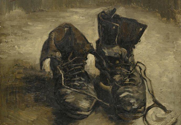 Van Goghovy boty, kolem kterých Martin Heidegger vybájel zcela smyšlenou konstrukci. Foto: Wikimedia