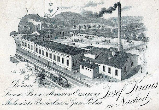 Tkalcovna Kraus ve Velkém Poříčí. Foto: Wikimedia