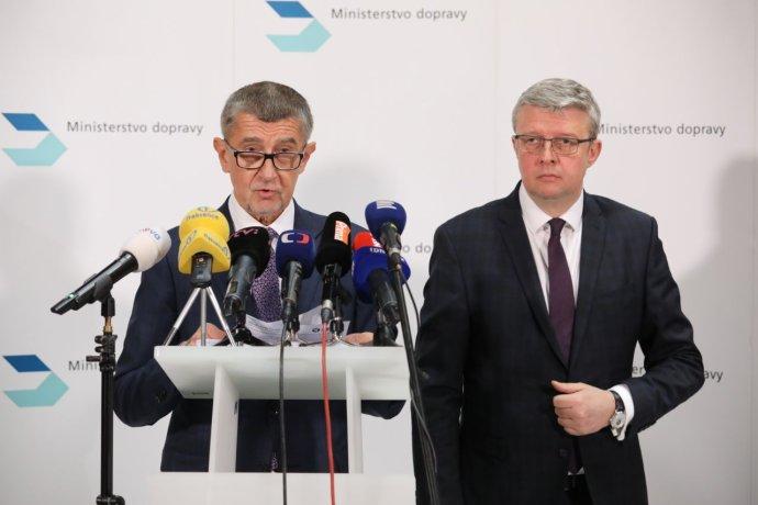 Premiér Babiš aministr dopravy aprůmyslu aobchodu Havlíček. Foto:Ludvík Hradilek, DeníkN