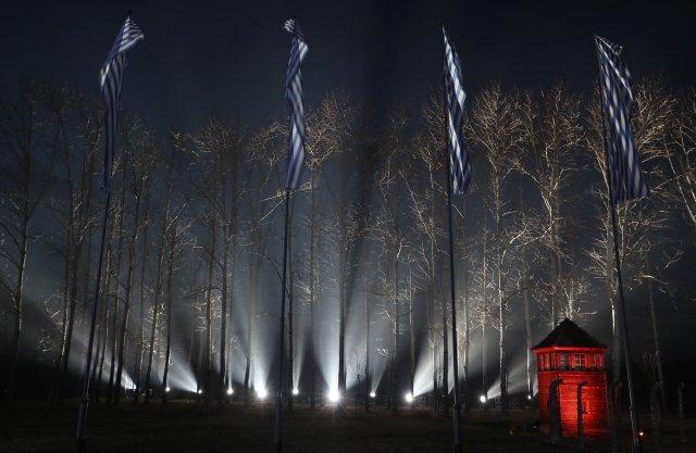 Pietní akce vOsvětimi k75.výročí osvobození zdejšího koncentračního tábora. Foto:ČTK/AP