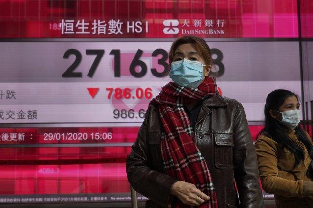 Výkyvy na čínských burzovních indexech. Foto:ČTK/AP