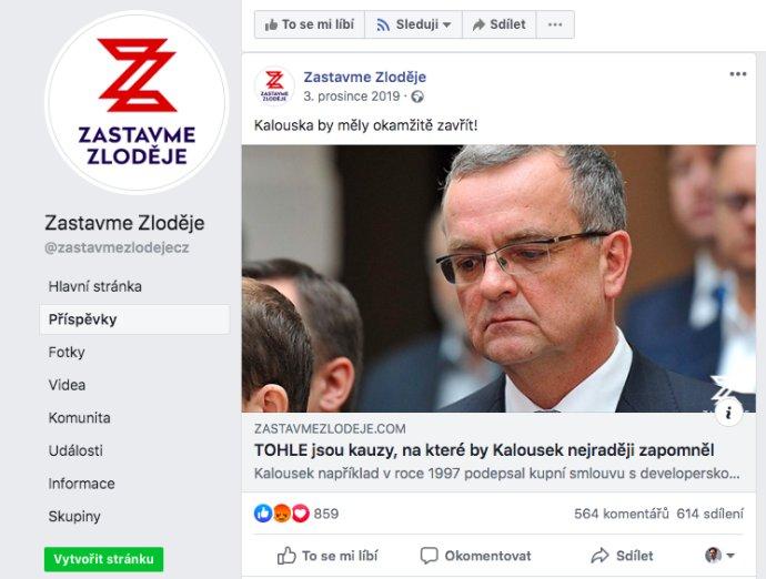 Stránka Zastavme zloděje. Foto:Repro DeníkN/Facebook