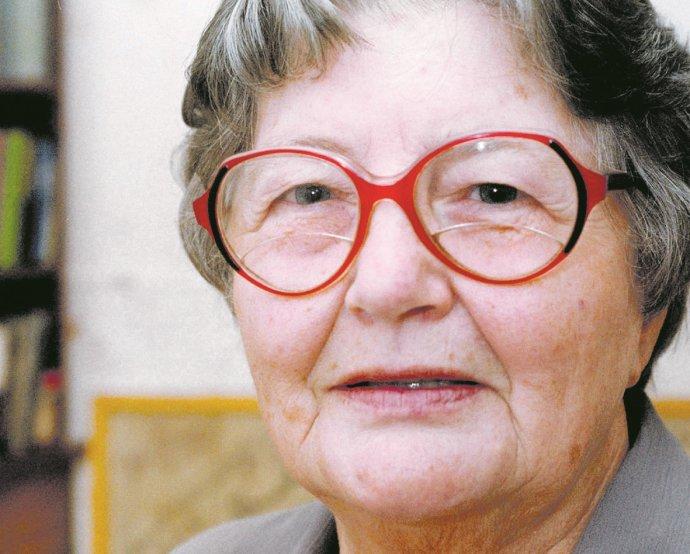 Spisovatelka Marie (Madla) Vaculíková během své knihy Drahý pane Kolář. Foto: ČTK