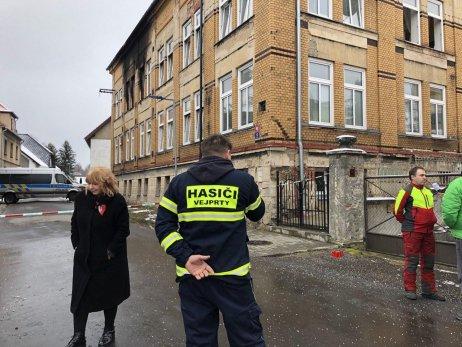 Požár ve Vejprtech. Foto: Deník N/Eliška Hradilková