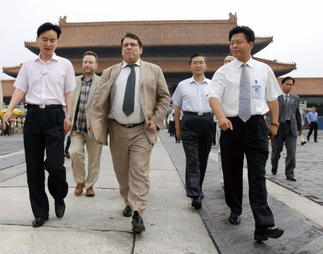 Premiér Jiří Paroubek si v červnu 2005 prohlédl Zakázané město v Pekingu. Foto: ČTK