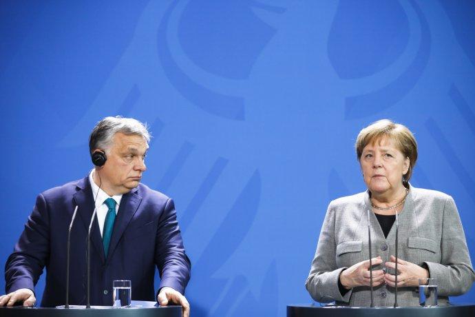 Německá kancléřka Angela Merkelová a maďarský premiér Viktor Orbán. Foto: ČTK