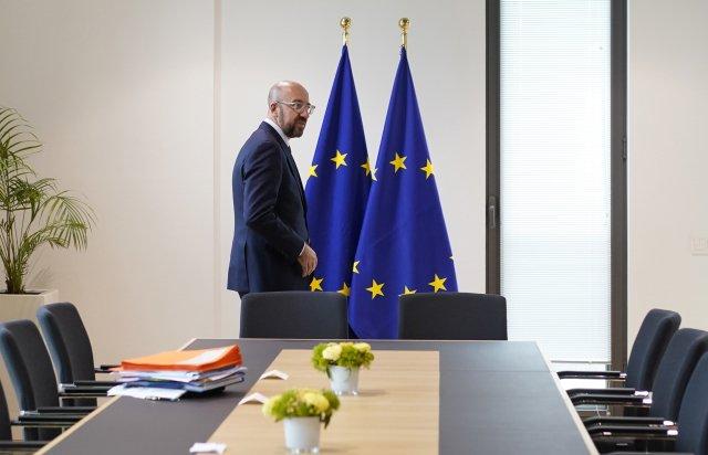 Předseda Evropské rady Charles Michel odešel zrozpočtového summitu EU snepořízenou. Foto:ČTK/AP