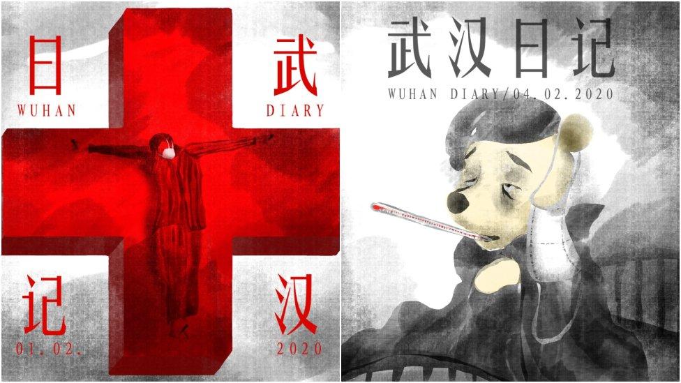 Jeden člověk uvězněný ve Wu-chanu sepisuje deník, druhý člověk ho vydává ailustruje. Tím druhým je známý karikaturista aodpůrce čínského režimu Badiucao, který Wuchanský deník isvé ilustrace poskytl DeníkuN. Kresby: Badiucao